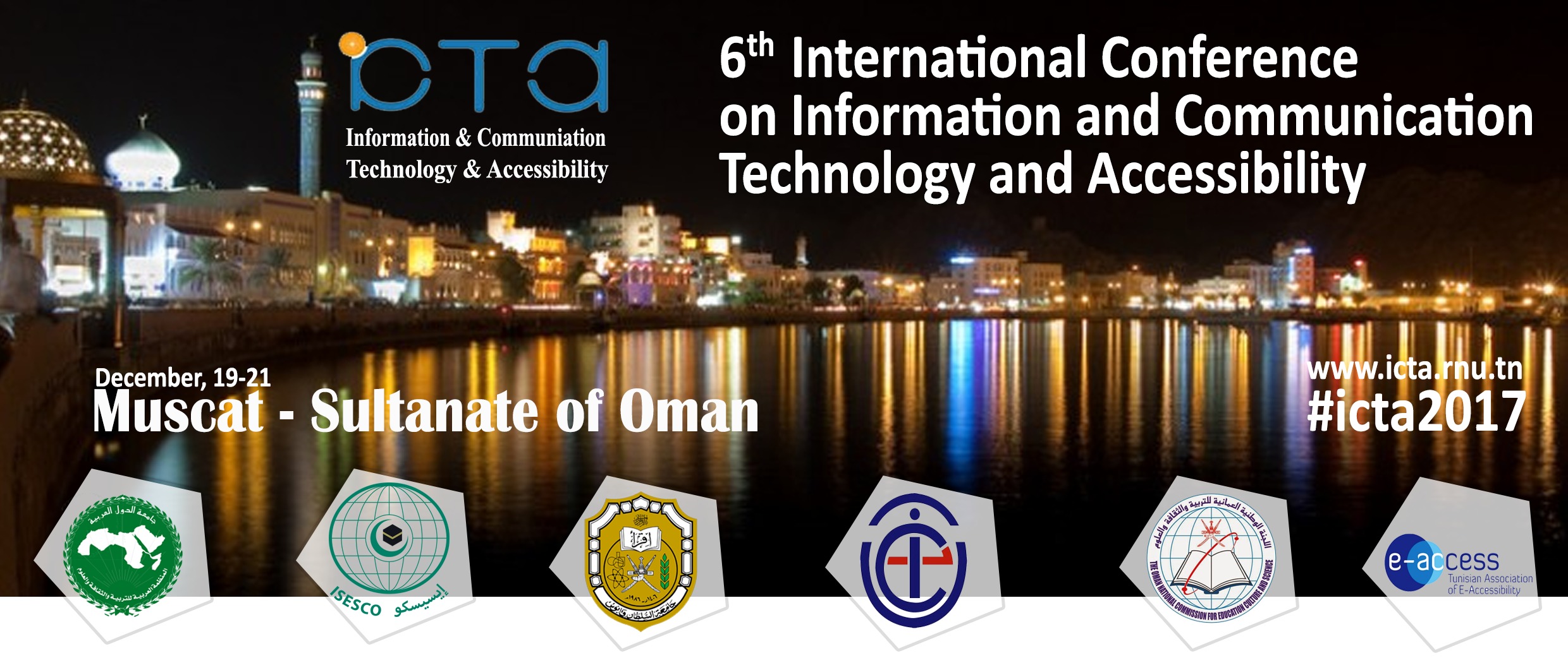6th International Conference on Information and Communication Technology and Accessibility ICTA 2017